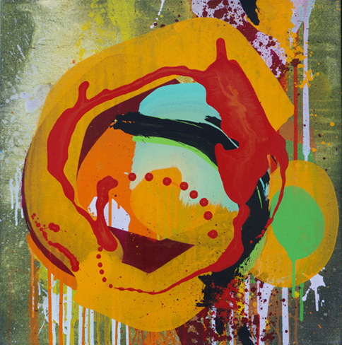 TWIST AND TURN I 2015/60 x 60 cm/SOLD